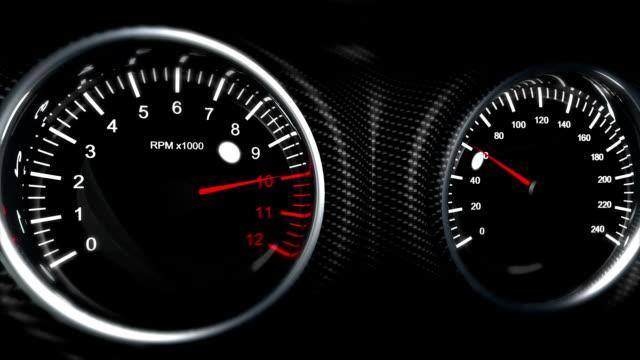 tachometer dashboard sports car video