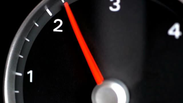 Tachometer indicating a car revving video
