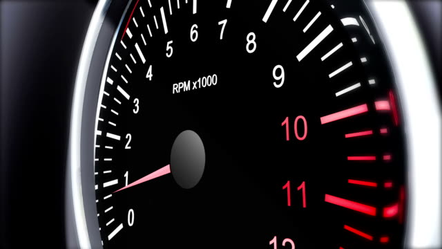 tachometer of a sports car that accelerates to full speed video