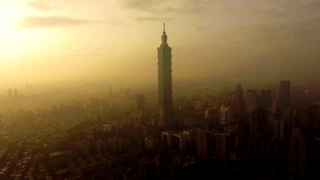 Taipei 101 by Drone video