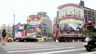 Taipei Street Scene Near the West Gate Trading Area. HD video