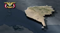 Taiz with Coat of arms animation map video