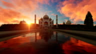 Taj Mahal at Sunset video