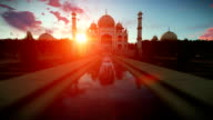 Taj Mahal, beautiful sunrise video