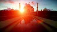 Taj Mahal beautiful sunset video
