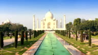 Taj Mahal Landscape in a sunny day video