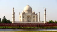 Taj Mahal on a bright and clear day video