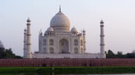 Taj Mahal timelapse at sunset video