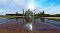 Taj Mahal with lens flare video