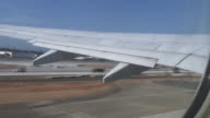 (HD1080i) Takeoff: Commercial Aircraft Takes Off from Airport, Looking Out video