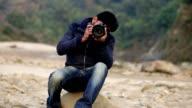 Taking a shot using dslr camera video