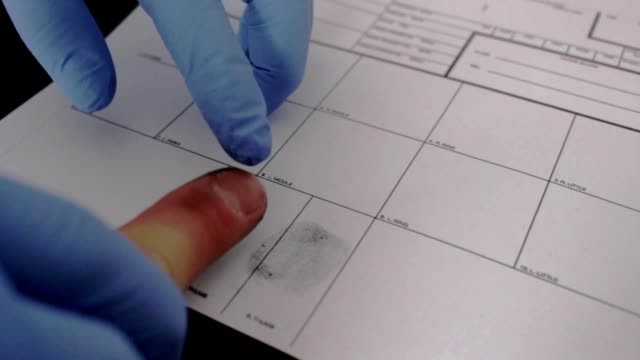taking fingerprints criminal prison video