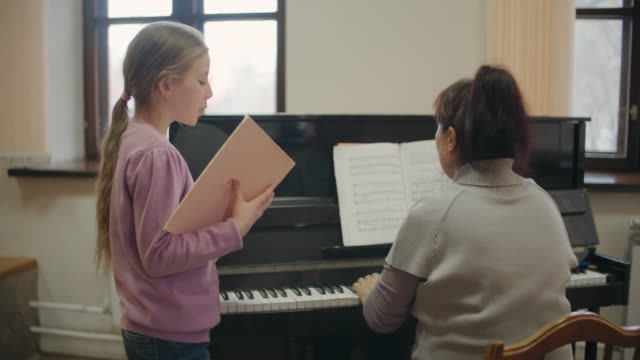 Taking music lesson video