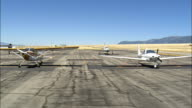 Taking Off From Ennis Big Sky Airport  - Aerial View - Montana, Madison County, United States video