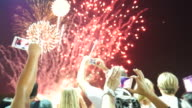 Taking photos of firework display video