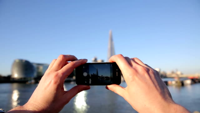 Taking picture of shard London video