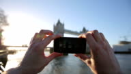 Taking picture of Tower Bridge video