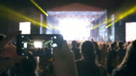 Taking pictures during a concert. video