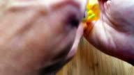 Taking Prescription Medicine Pills 4k video