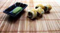 Taking Salmon Avocado Sushies video