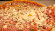 Taking Slice of Pizza with Ham and Mushroom 2 video