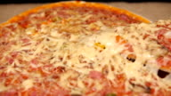 Taking Slice of Pizza with Ham and Mushroom video