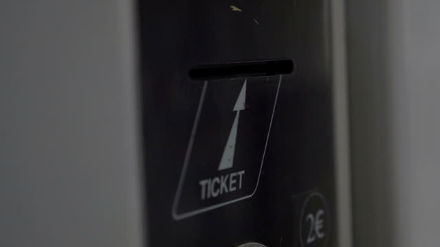 Taking ticket from self-service machine video