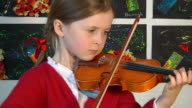 Talented child playing the violin video