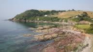 Talland Bay between Looe and Polperro Cornwall England UK video