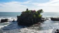Tanah Lot Temple on Sea in Bali Island Indonesia. video