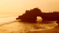 Tanah Lot Temple on Sunset in Bali Island Indonesia video