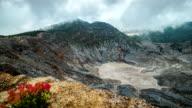 Tangkuban Perahu, the volcanic crater in Lembang, west Bandung, Indonesia. FullHD Timelapse - Java, Indonesia video