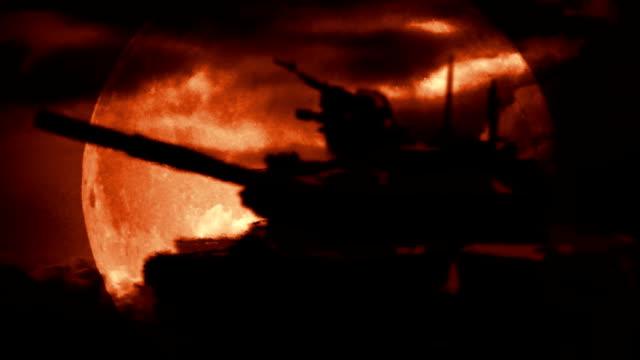 Tank in desert video