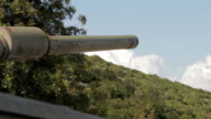 tank in motion on a mission of war video