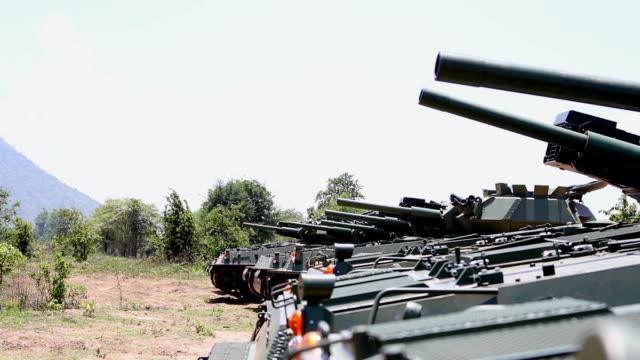 Tank move gun and fire video