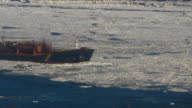 tanker cross ices on st laurent river video