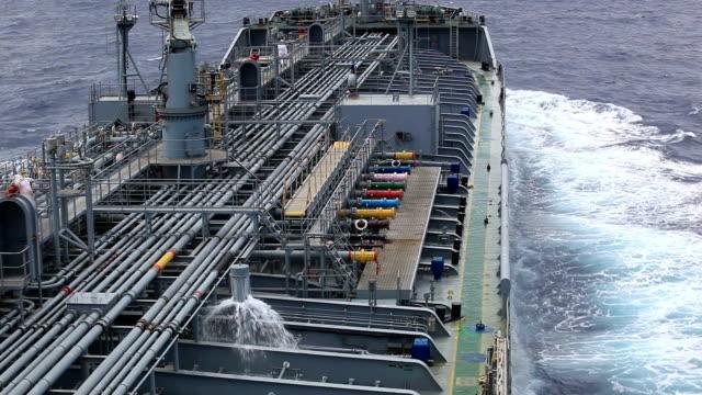 Tanker deck. video