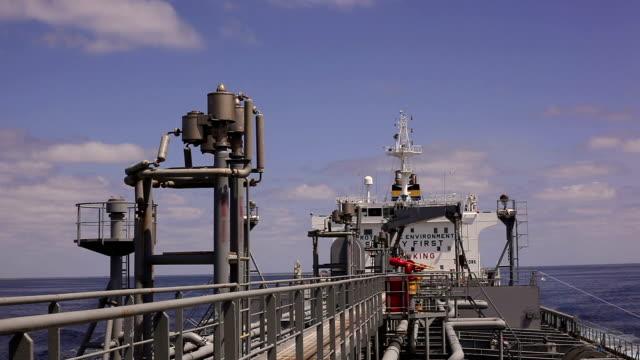 Tanker open deck video