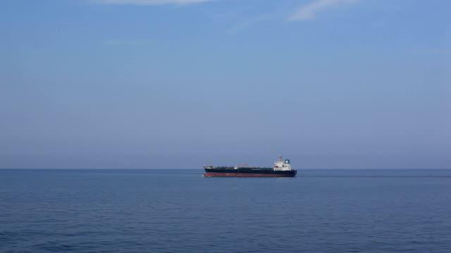 Tanker sailing to loading port. video