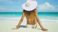 Tanned Girl Enjoying Peaceful Island Lifestyle video