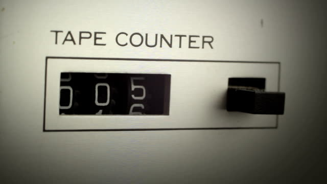 tape counter shows the time that passes video