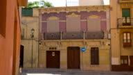 Tarragona in Spain, spanish old town house establishing shot video