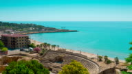 Tarragona Roman Amphitheater and beach, Costa Daurada, Catalonia video