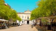 Tarragona, Spain, establishing shot cafe restaurant outdoors video