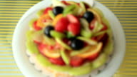 Tart pie jellied fresh fruits video