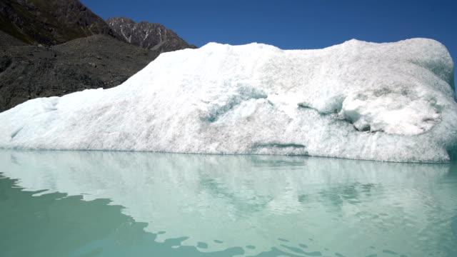 Tasman Glacier in Aoraki Mt Cook National Park, New Zealand. video
