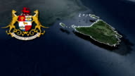 Tasmania white Coat of arms animation map video