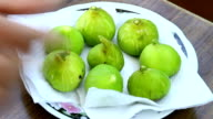 Tasty natural fig. video