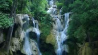 tat kuang si waterfall scene video