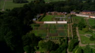 Tatton Park And House  - Aerial View - England, Cheshire East, Tatton, United Kingdom video